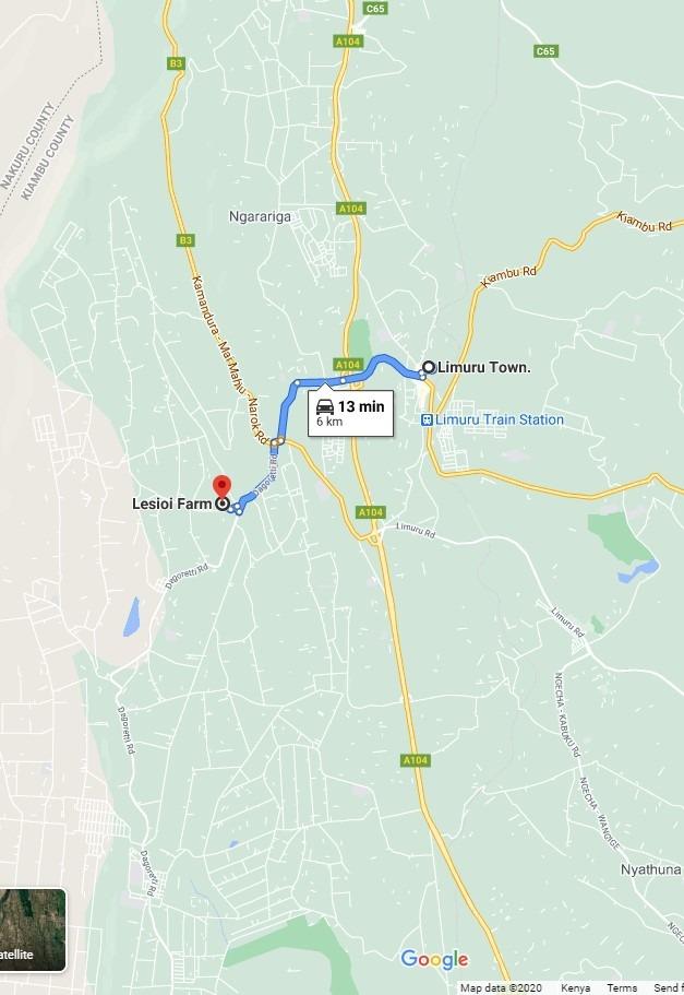 Lesioi Farm Stay Location from Limuru
