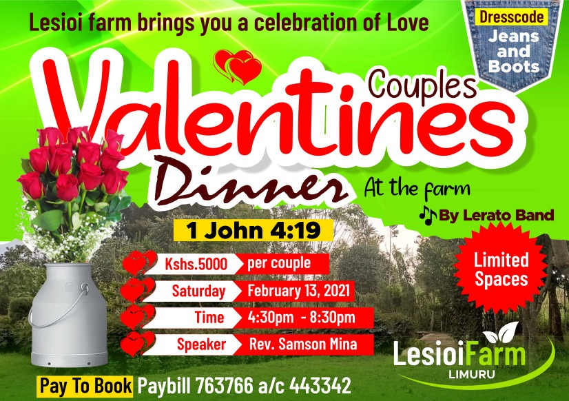 Couple's Valentines Dinner at the Farm
